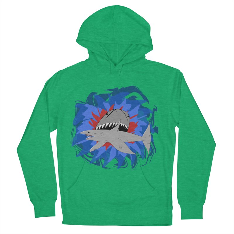 Shark Weak Women's French Terry Pullover Hoody by Every Drop's An Idea's Artist Shop