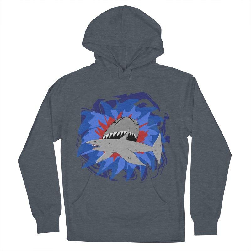 Shark Weak Men's French Terry Pullover Hoody by Every Drop's An Idea's Artist Shop
