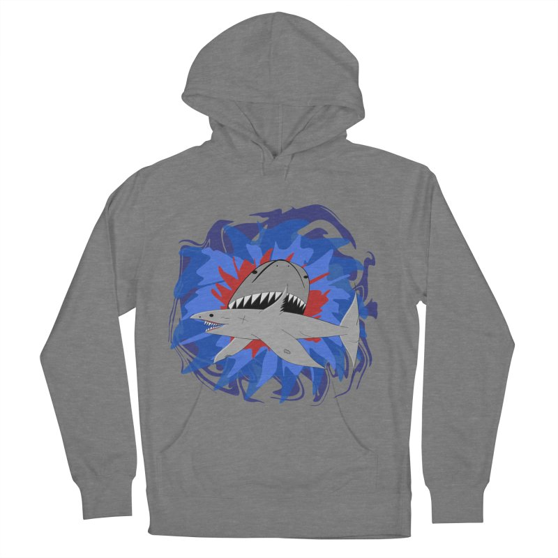 Shark Weak Men's French Terry Pullover Hoody by Every Drop's An Idea's Artist Shop