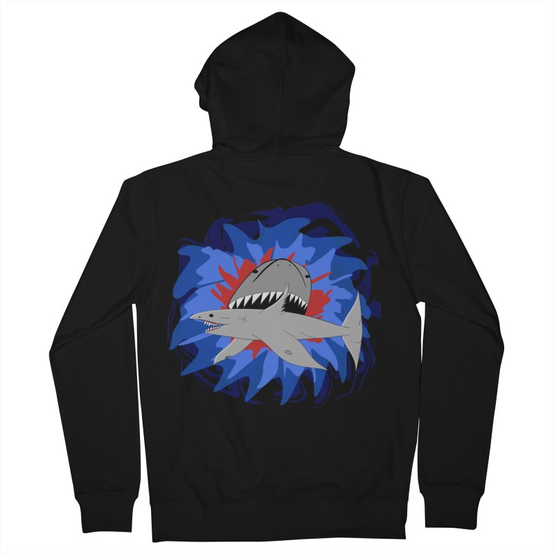 Shark Weak Women's French Terry Zip-Up Hoody by Every Drop's An Idea's Artist Shop