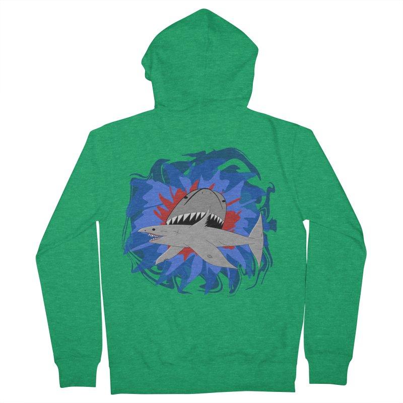 Shark Weak Men's Zip-Up Hoody by Every Drop's An Idea's Artist Shop