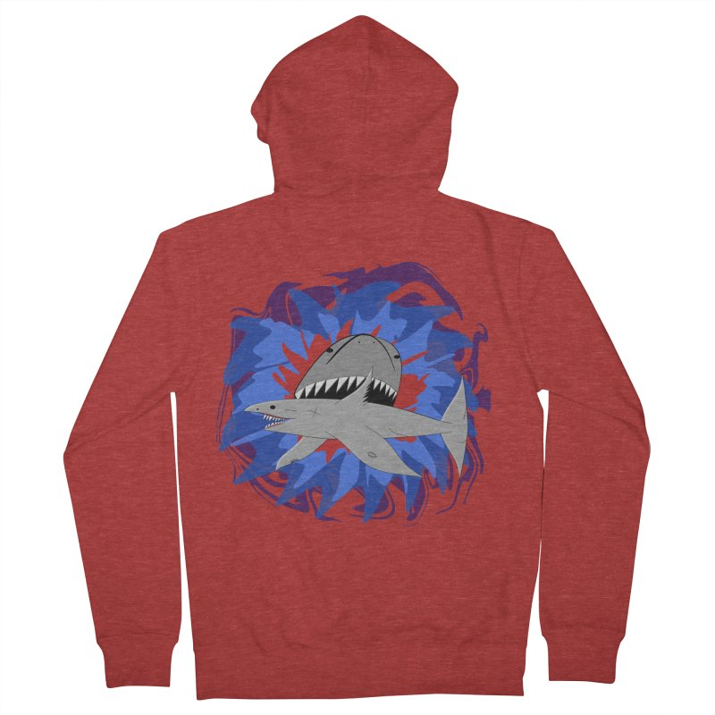 Shark Weak Men's French Terry Zip-Up Hoody by Every Drop's An Idea's Artist Shop