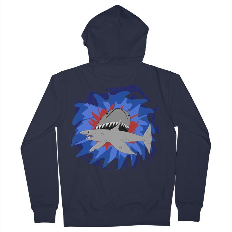 Shark Weak Men's French Terry Zip-Up Hoody by Every Drop's An Idea's Artist Shop