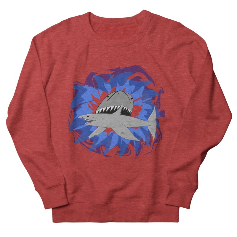 Shark Weak Men's French Terry Sweatshirt by Every Drop's An Idea's Artist Shop