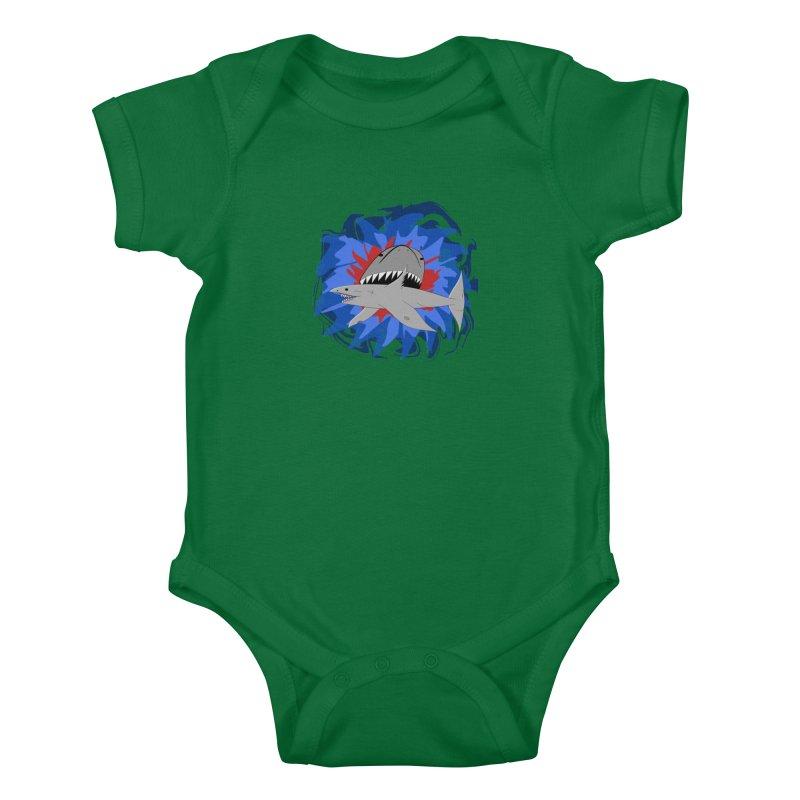 Shark Weak Kids Baby Bodysuit by Every Drop's An Idea's Artist Shop