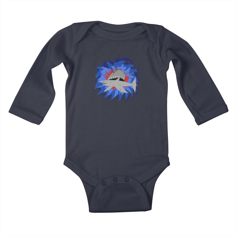 Shark Weak Kids Baby Longsleeve Bodysuit by Every Drop's An Idea's Artist Shop