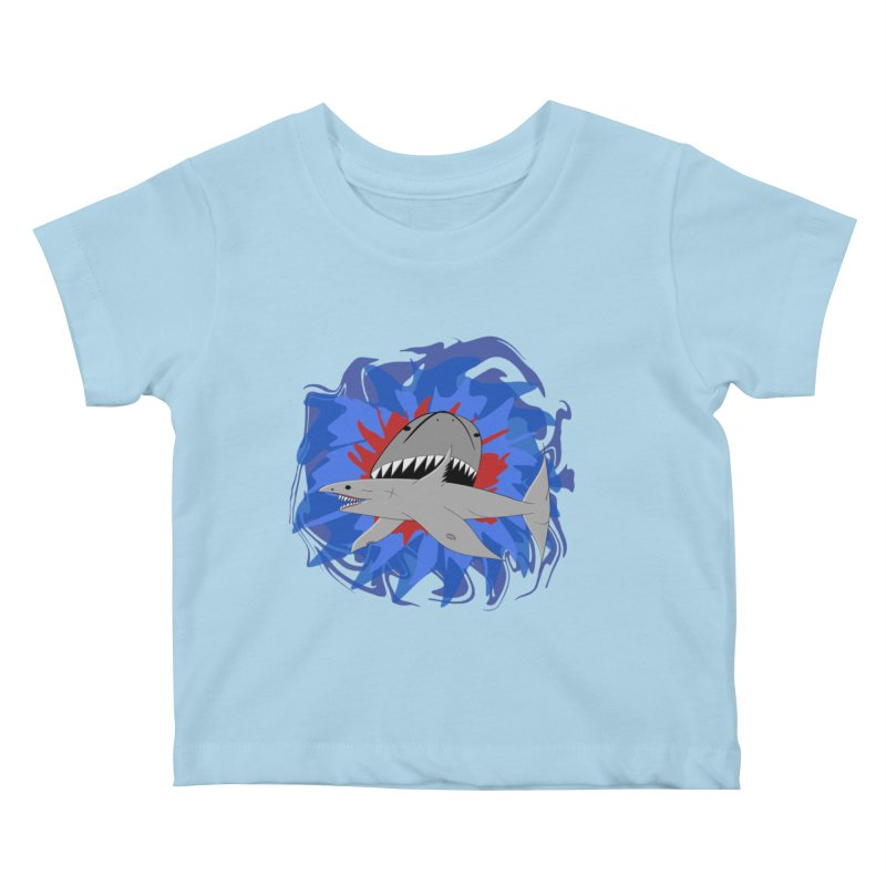 Shark Weak Kids Baby T-Shirt by Every Drop's An Idea's Artist Shop