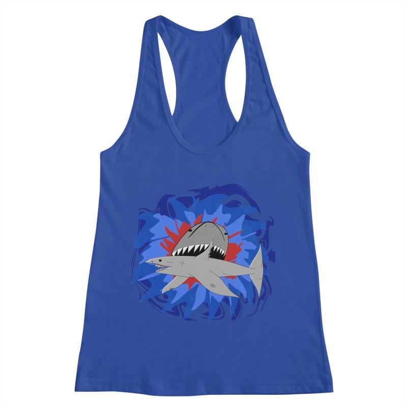 Shark Weak Women's Racerback Tank by Every Drop's An Idea's Artist Shop