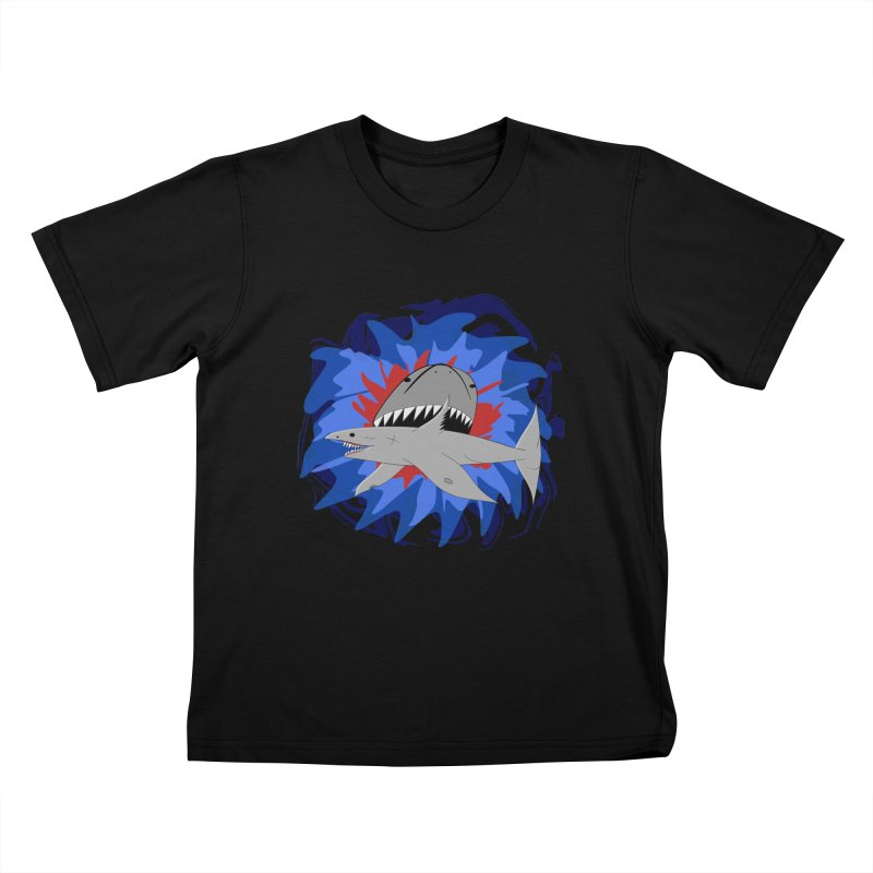 Shark Weak Kids T-Shirt by Every Drop's An Idea's Artist Shop