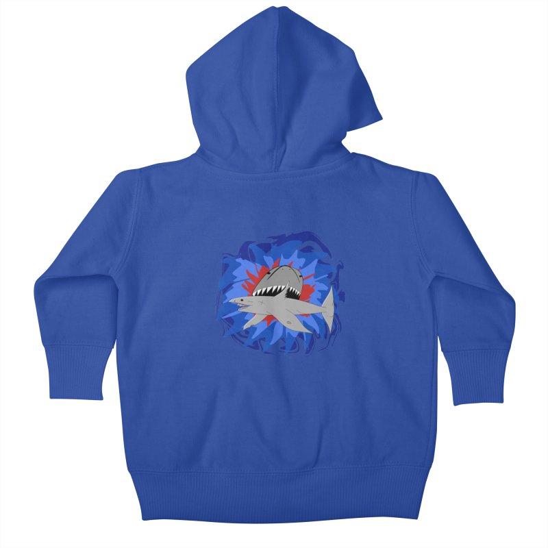 Shark Weak Kids Baby Zip-Up Hoody by Every Drop's An Idea's Artist Shop