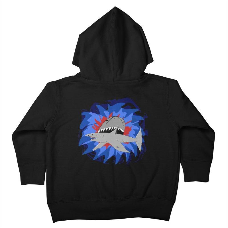 Shark Weak Kids Toddler Zip-Up Hoody by Every Drop's An Idea's Artist Shop