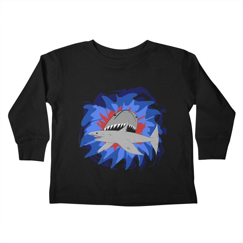 Shark Weak Kids Toddler Longsleeve T-Shirt by Every Drop's An Idea's Artist Shop