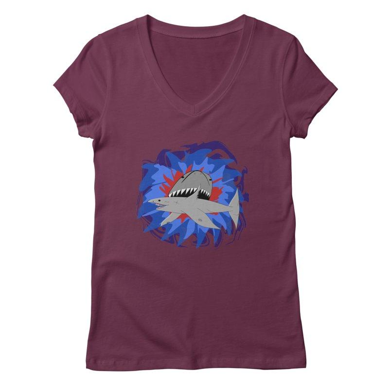 Shark Weak Women's Regular V-Neck by Every Drop's An Idea's Artist Shop
