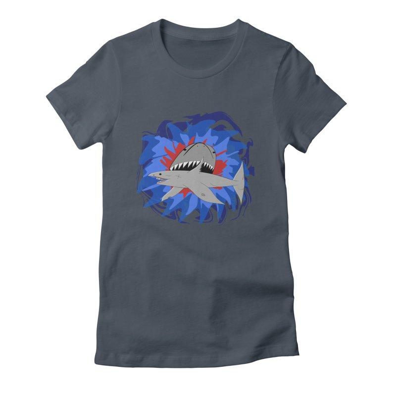 Shark Weak Women's Fitted T-Shirt by Every Drop's An Idea's Artist Shop