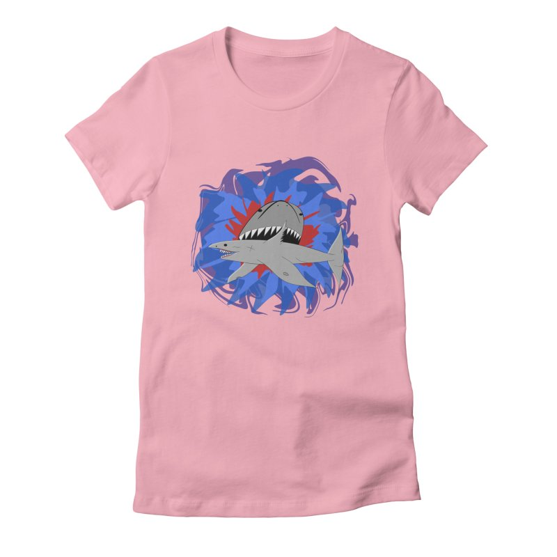 Shark Weak Women's Fitted T-Shirt by Every Drop's An Idea's Artist Shop