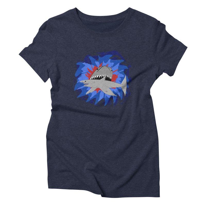 Shark Weak Women's Triblend T-Shirt by Every Drop's An Idea's Artist Shop
