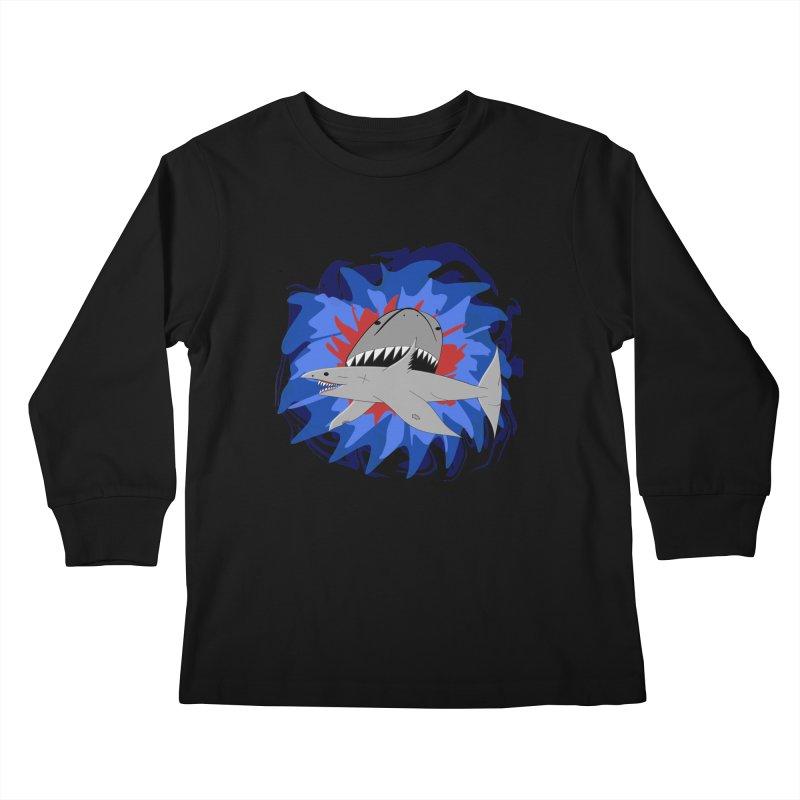 Shark Weak Kids Longsleeve T-Shirt by Every Drop's An Idea's Artist Shop