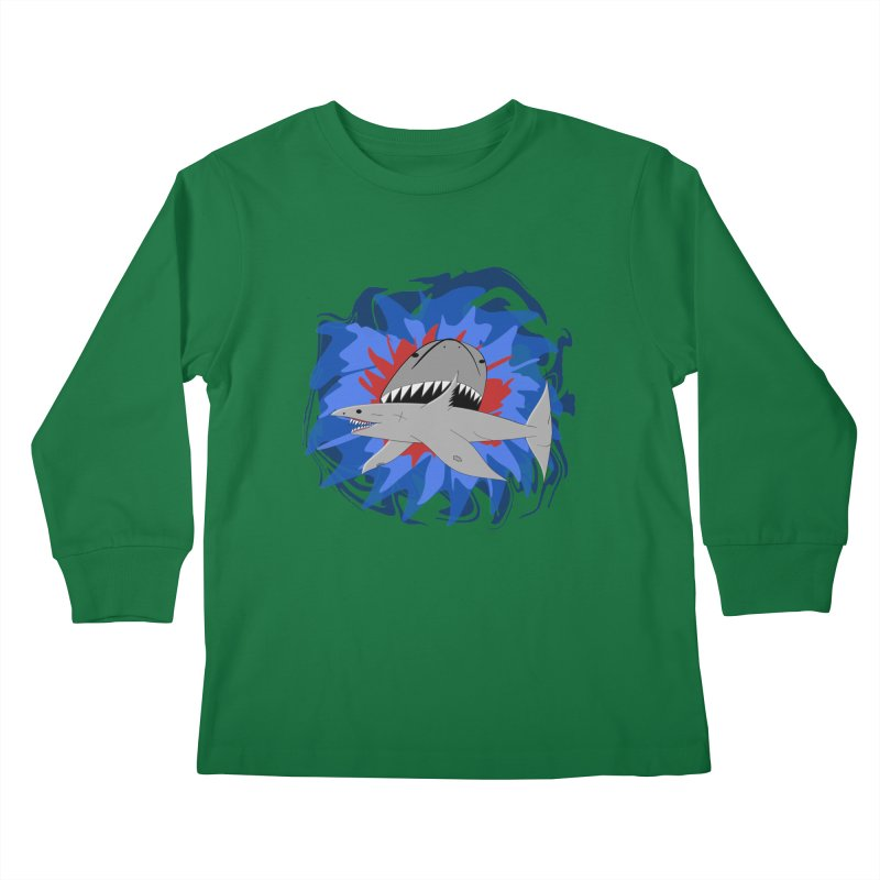Shark Weak Kids Longsleeve T-Shirt by Every Drop's An Idea's Artist Shop