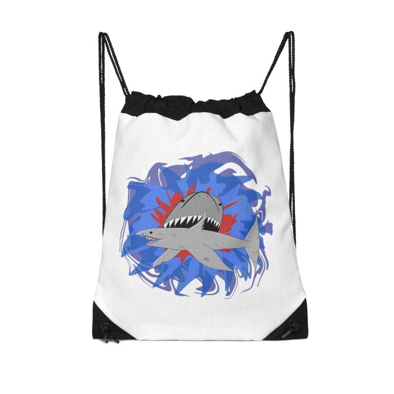 Shark Weak Accessories Drawstring Bag Bag by Every Drop's An Idea's Artist Shop