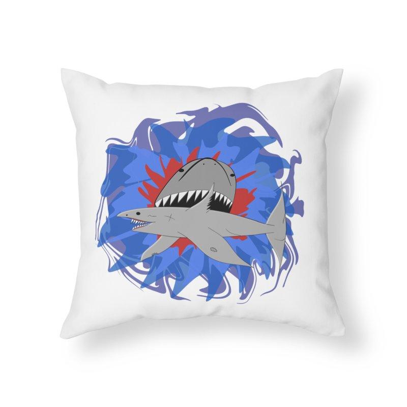 Shark Weak Home Throw Pillow by Every Drop's An Idea's Artist Shop