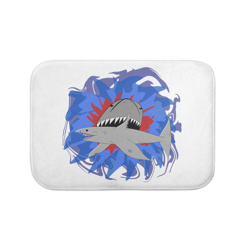 Shark Weak Home Bath Mat by Every Drop's An Idea's Artist Shop