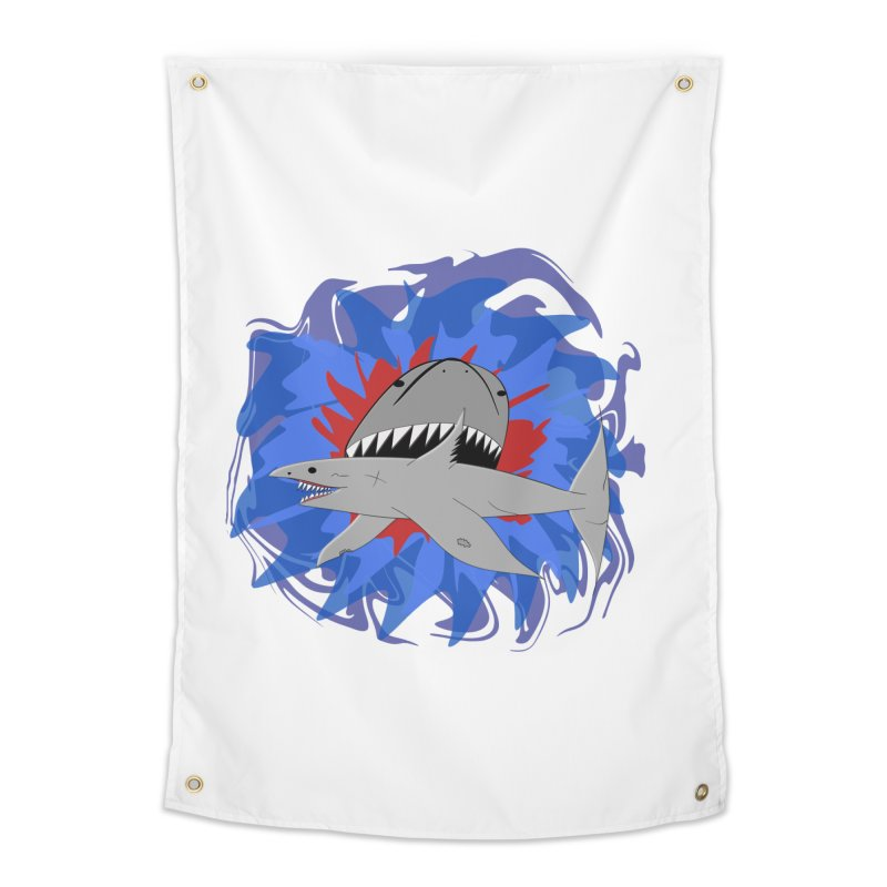 Shark Weak Home Tapestry by Every Drop's An Idea's Artist Shop