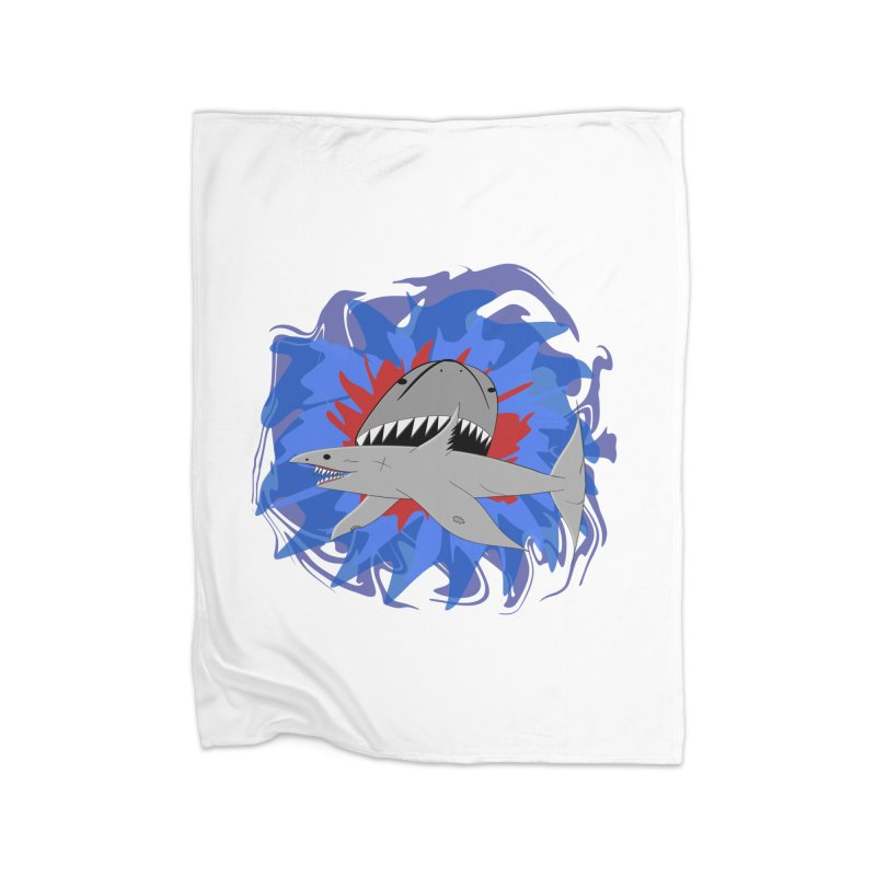 Shark Weak Home Fleece Blanket Blanket by Every Drop's An Idea's Artist Shop