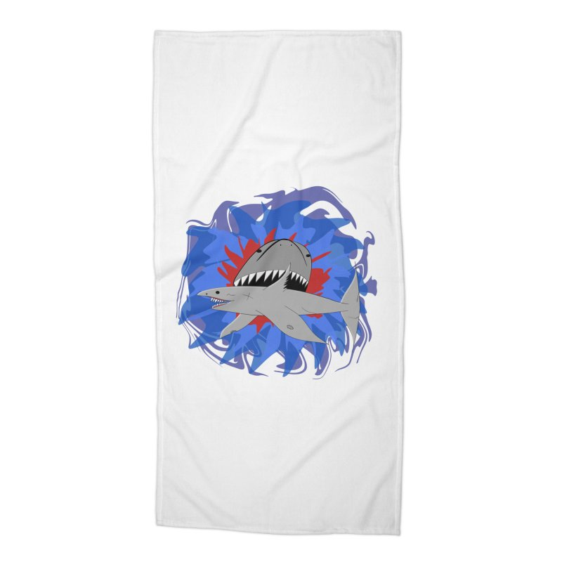 Shark Weak Accessories Beach Towel by Every Drop's An Idea's Artist Shop