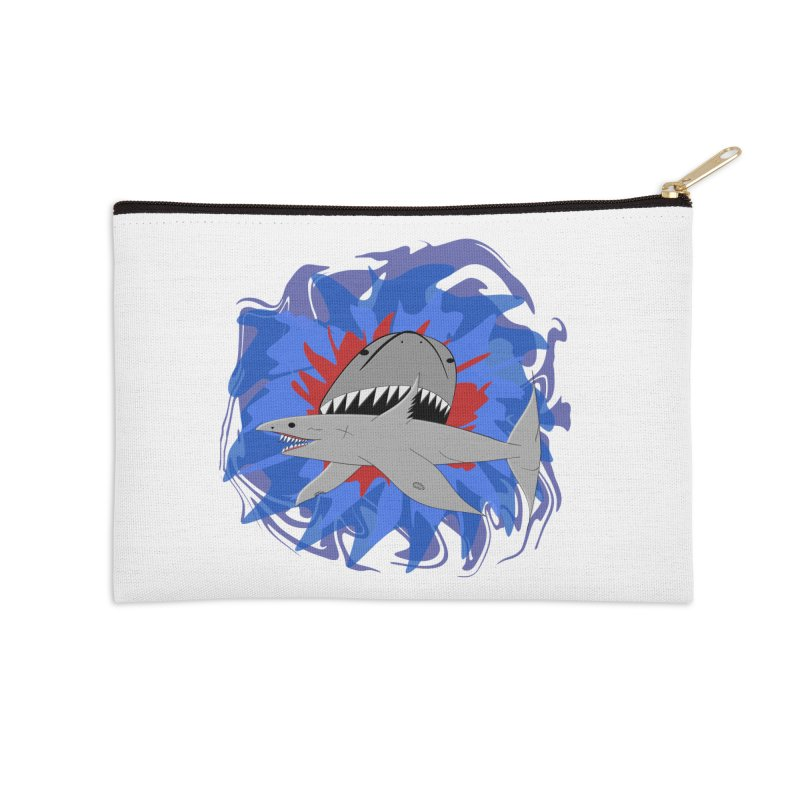Shark Weak Accessories Zip Pouch by Every Drop's An Idea's Artist Shop