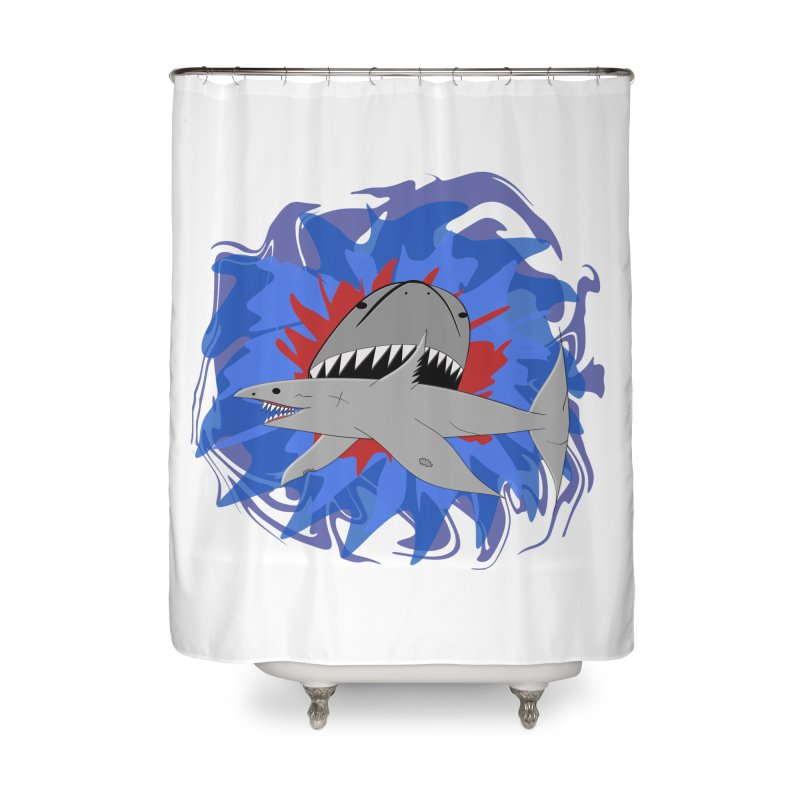 Shark Weak in Shower Curtain by Every Drop's An Idea's Artist Shop