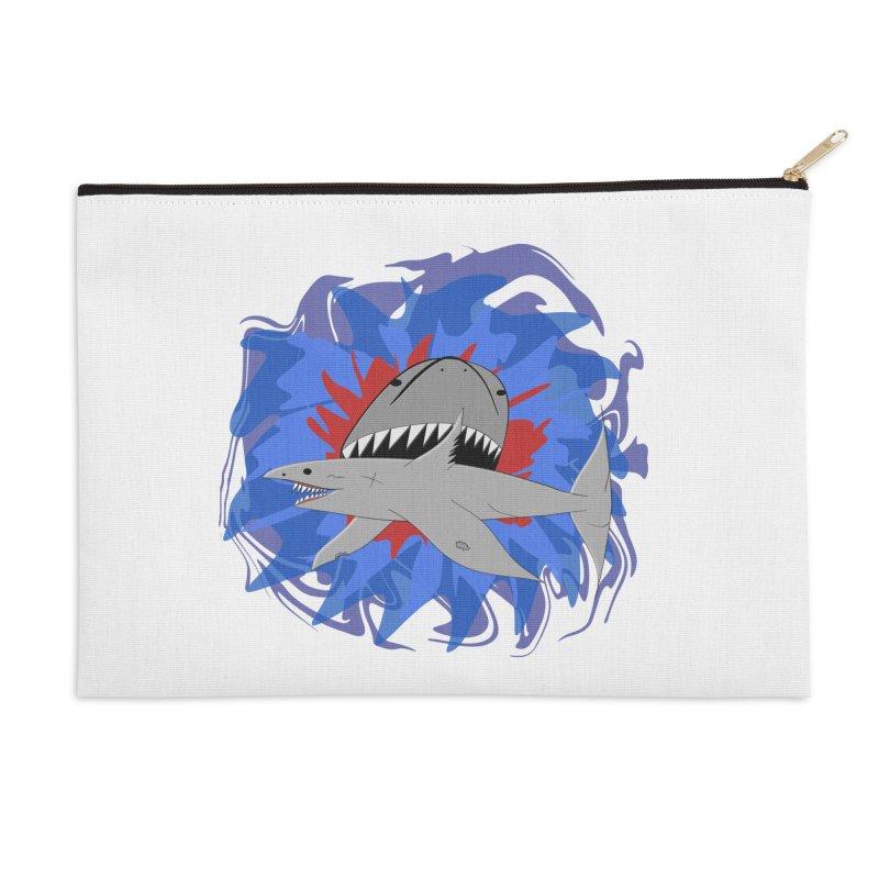 Shark Weak Accessories Zip Pouch by Every Drop's An Idea's Artist Shop