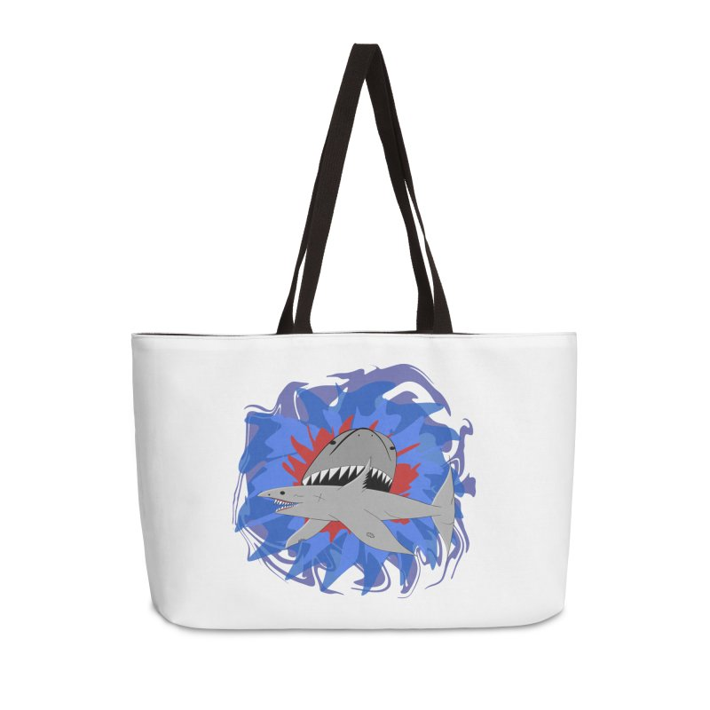 Shark Weak Accessories Weekender Bag Bag by Every Drop's An Idea's Artist Shop