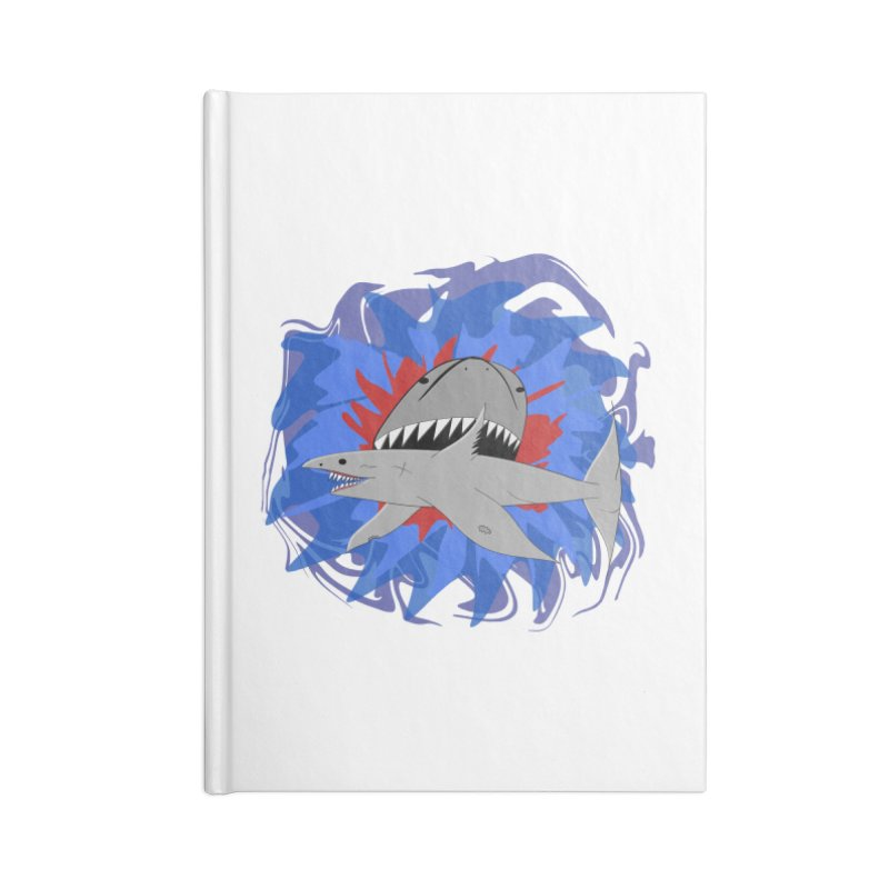 Shark Weak Accessories Lined Journal Notebook by Every Drop's An Idea's Artist Shop