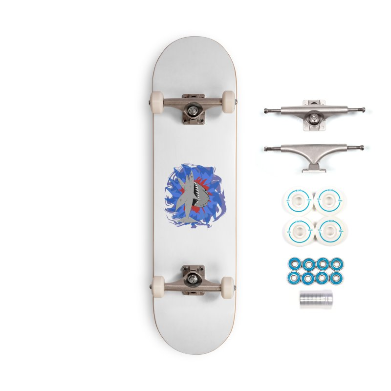 Shark Weak Accessories Complete - Basic Skateboard by Every Drop's An Idea's Artist Shop