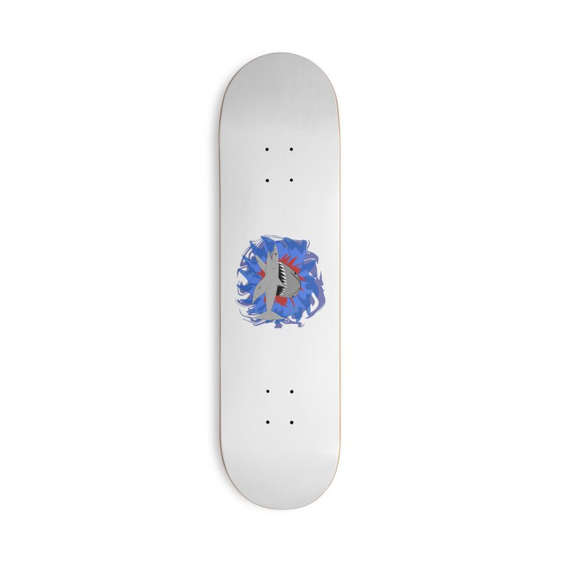 Shark Weak Accessories Deck Only Skateboard by Every Drop's An Idea's Artist Shop