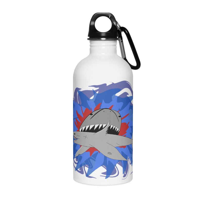 Shark Weak Accessories Water Bottle by Every Drop's An Idea's Artist Shop