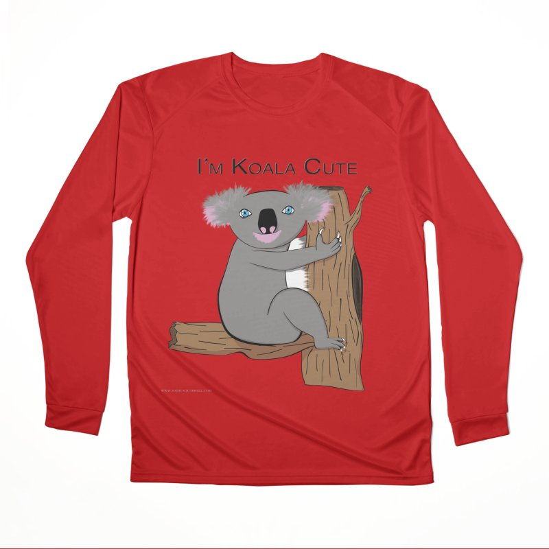I'm Koala Cute Women's Performance Unisex Longsleeve T-Shirt by Every Drop's An Idea's Artist Shop