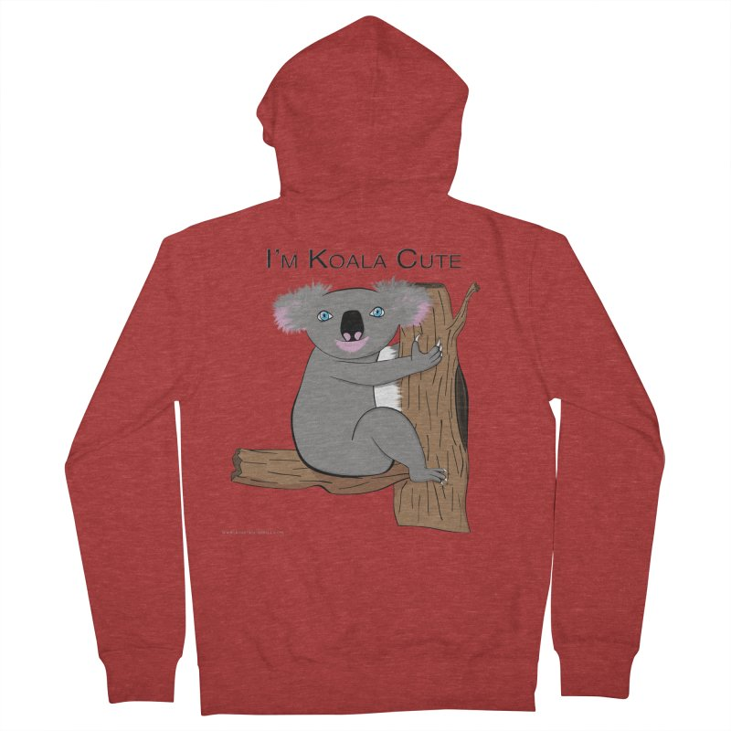 I'm Koala Cute Men's French Terry Zip-Up Hoody by Every Drop's An Idea's Artist Shop