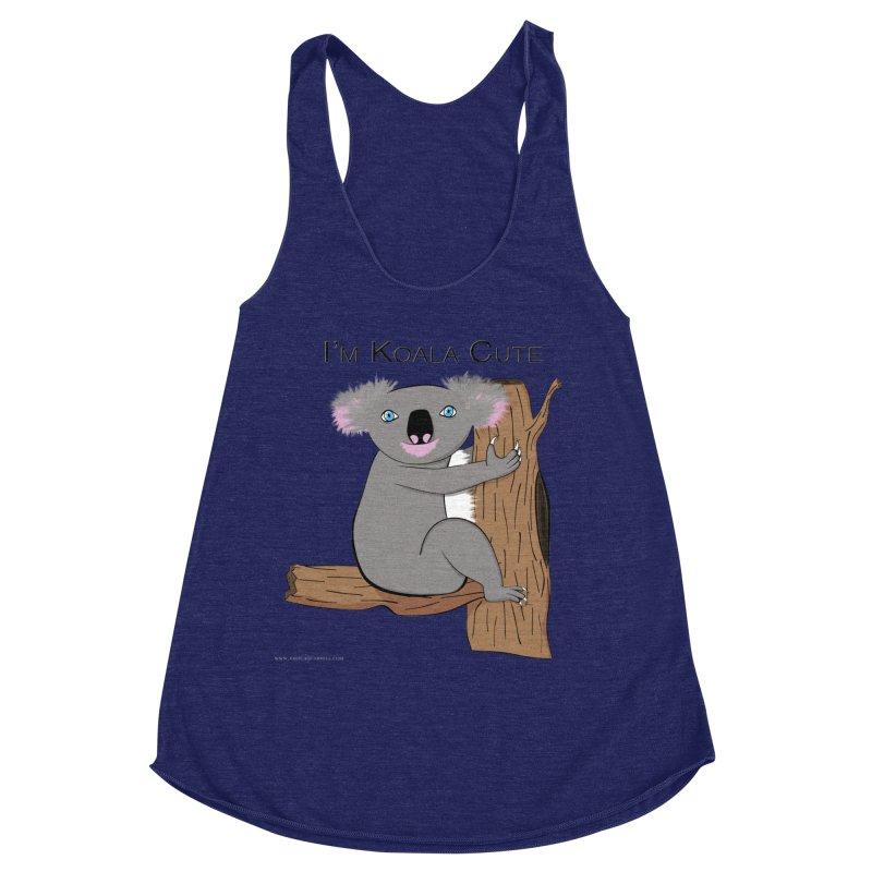 I'm Koala Cute Women's Racerback Triblend Tank by Every Drop's An Idea's Artist Shop