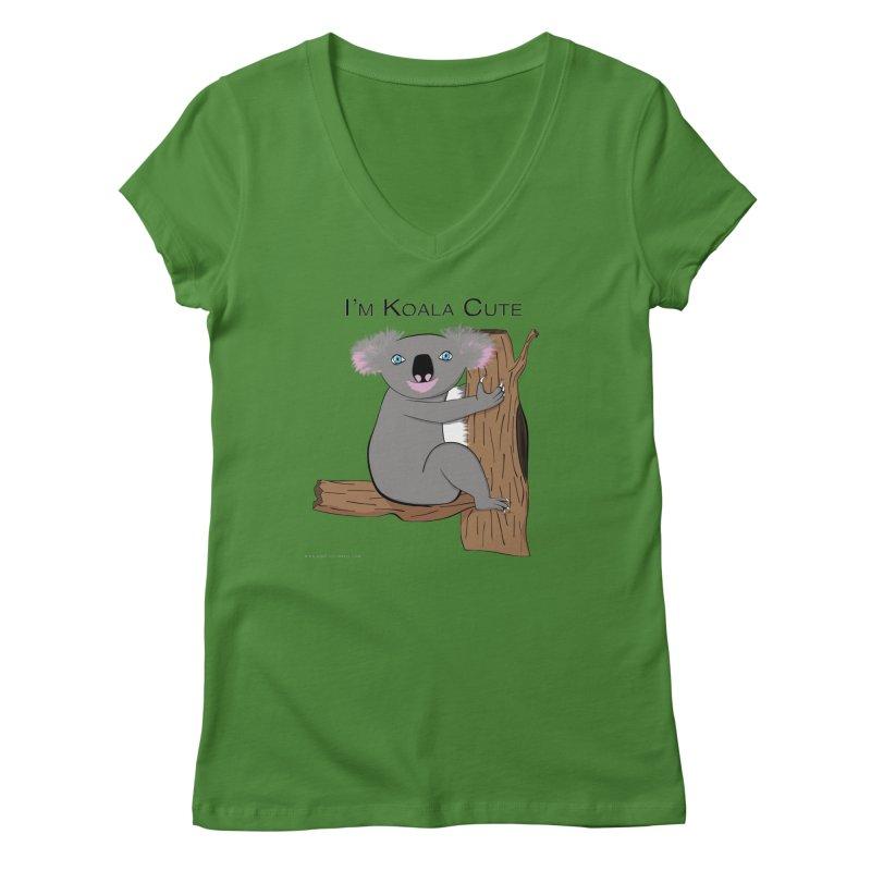 I'm Koala Cute Women's Regular V-Neck by Every Drop's An Idea's Artist Shop