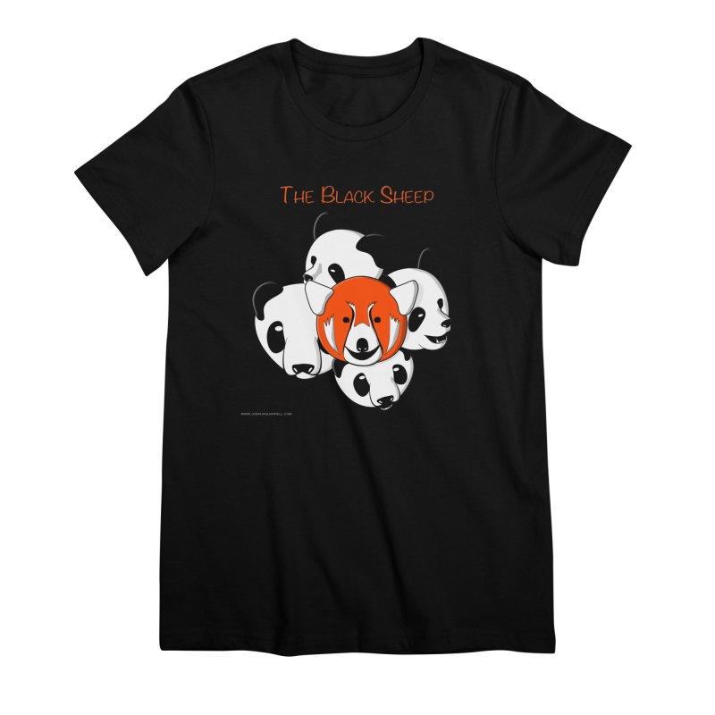 The Black Sheep Women's Premium T-Shirt by Every Drop's An Idea's Artist Shop