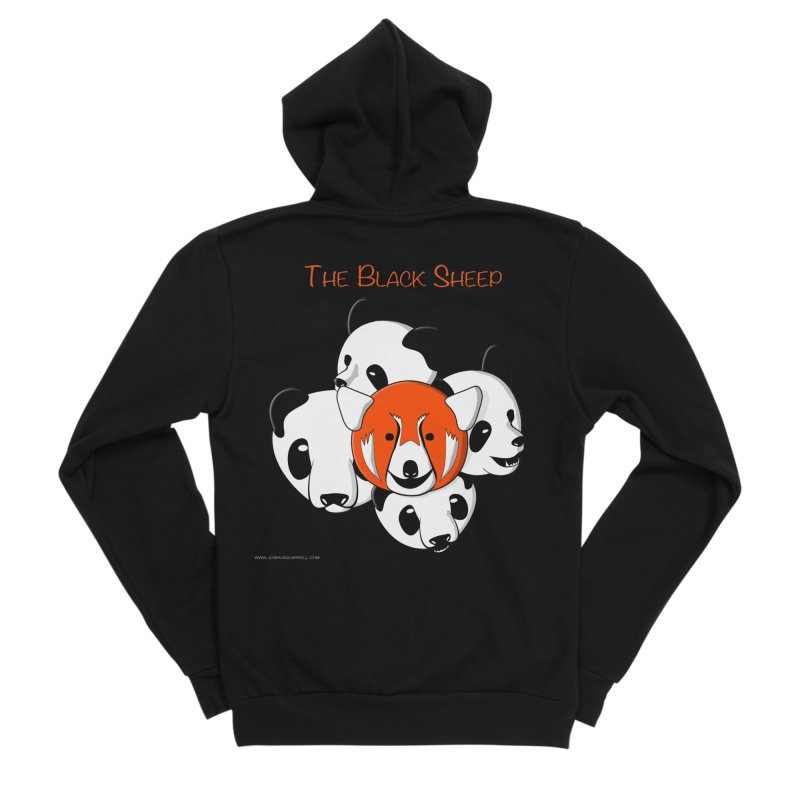 The Black Sheep Men's Sponge Fleece Zip-Up Hoody by Every Drop's An Idea's Artist Shop