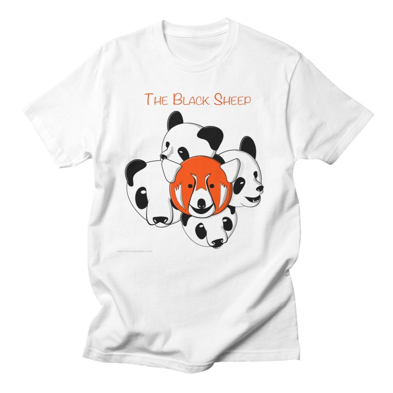 The Black Sheep in Men's Regular T-Shirt White by Every Drop's An Idea's Artist Shop