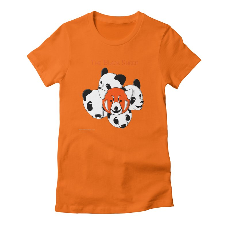 The Black Sheep Women's Fitted T-Shirt by Every Drop's An Idea's Artist Shop