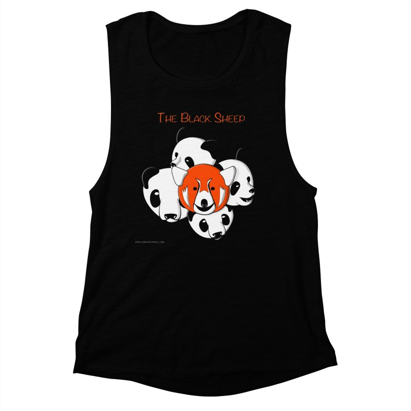 The Black Sheep Women's Muscle Tank by Every Drop's An Idea's Artist Shop