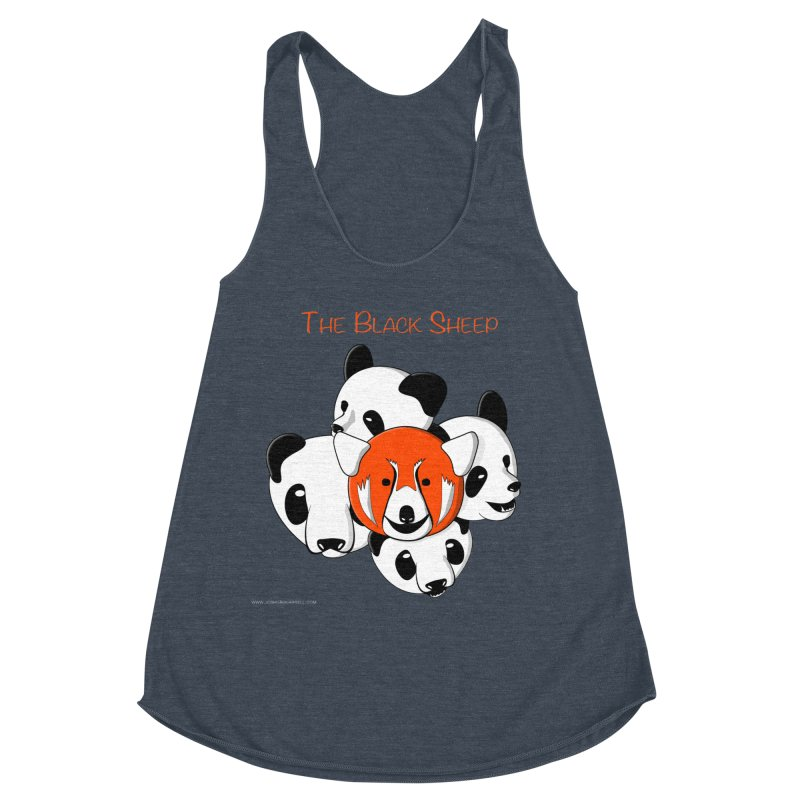 The Black Sheep Women's Racerback Triblend Tank by Every Drop's An Idea's Artist Shop