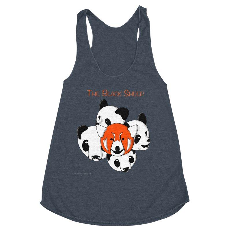 The Black Sheep Women's Racerback Triblend Tank by Every Drop's An Idea's Artist Shop