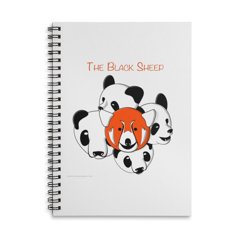 The Black Sheep Accessories Lined Spiral Notebook by Every Drop's An Idea's Artist Shop