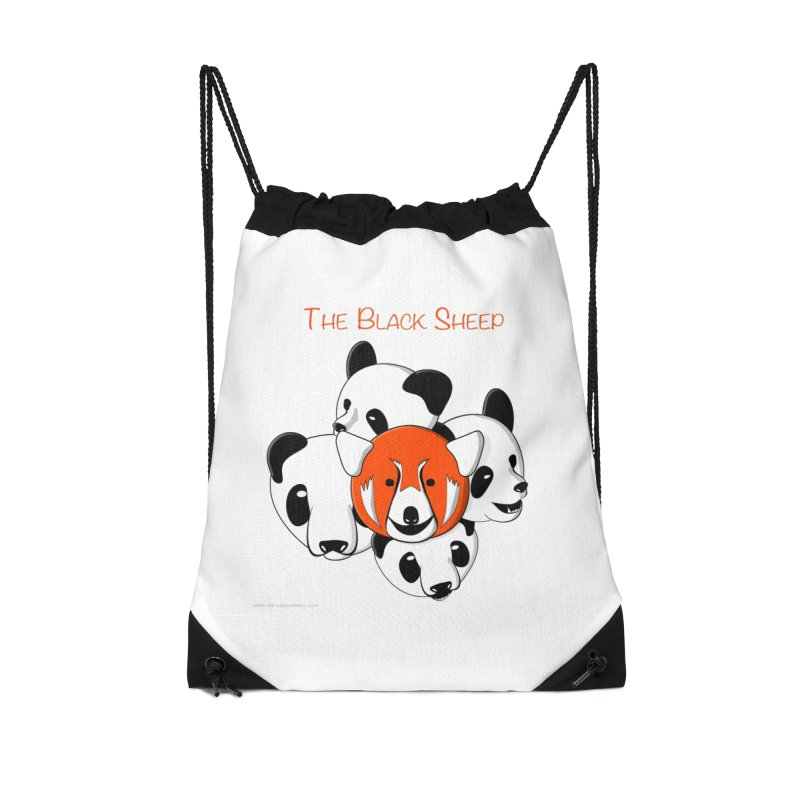The Black Sheep Accessories Drawstring Bag Bag by Every Drop's An Idea's Artist Shop