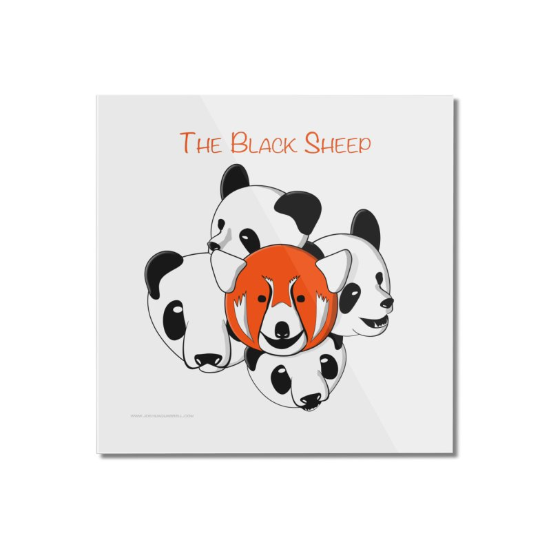 The Black Sheep Home Mounted Acrylic Print by Every Drop's An Idea's Artist Shop
